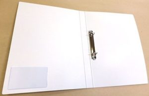 2穴リングファイル印刷 バインダーファイル印刷 金属製D型リング