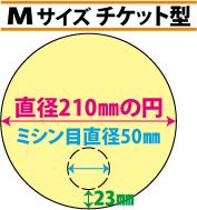 紙うちわ印刷 Mサイズ チケット型