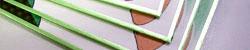 色紙のフチ 緑色