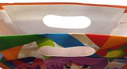 紙袋印刷 小判抜き手穴 穴の補強