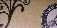 濃い茶色クラフト紙に2色印刷