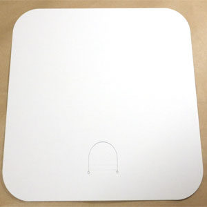 白色紙うちわ 正方形タイプ